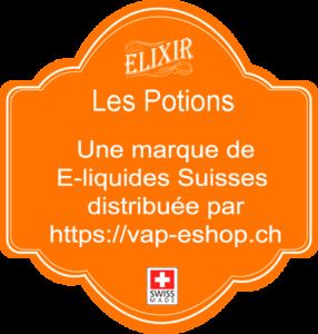 Elixir Les Potions, une marque de e-liquide Suisse